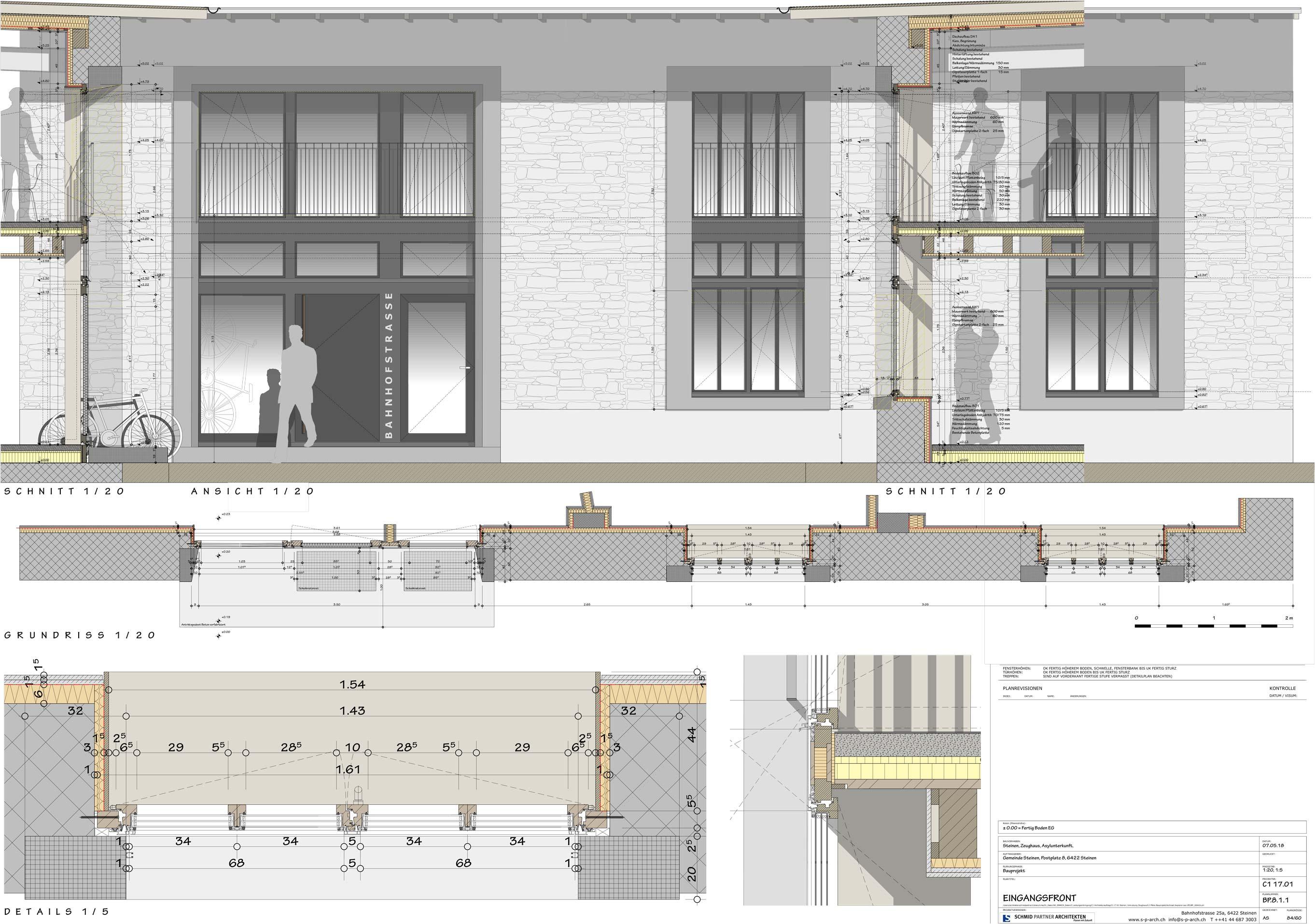 Schmid Partner Architekten Bauerneuerung C11701 BP.8.1.1 EINGANGSFRONT