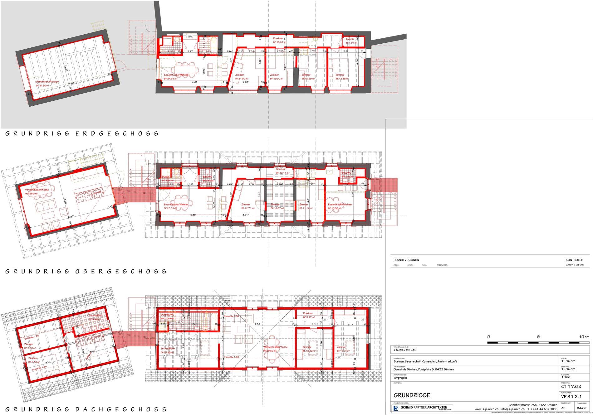 Schmid Partner Architekten Bauerneuerung VP 31.2.1 GRUNDRISSE