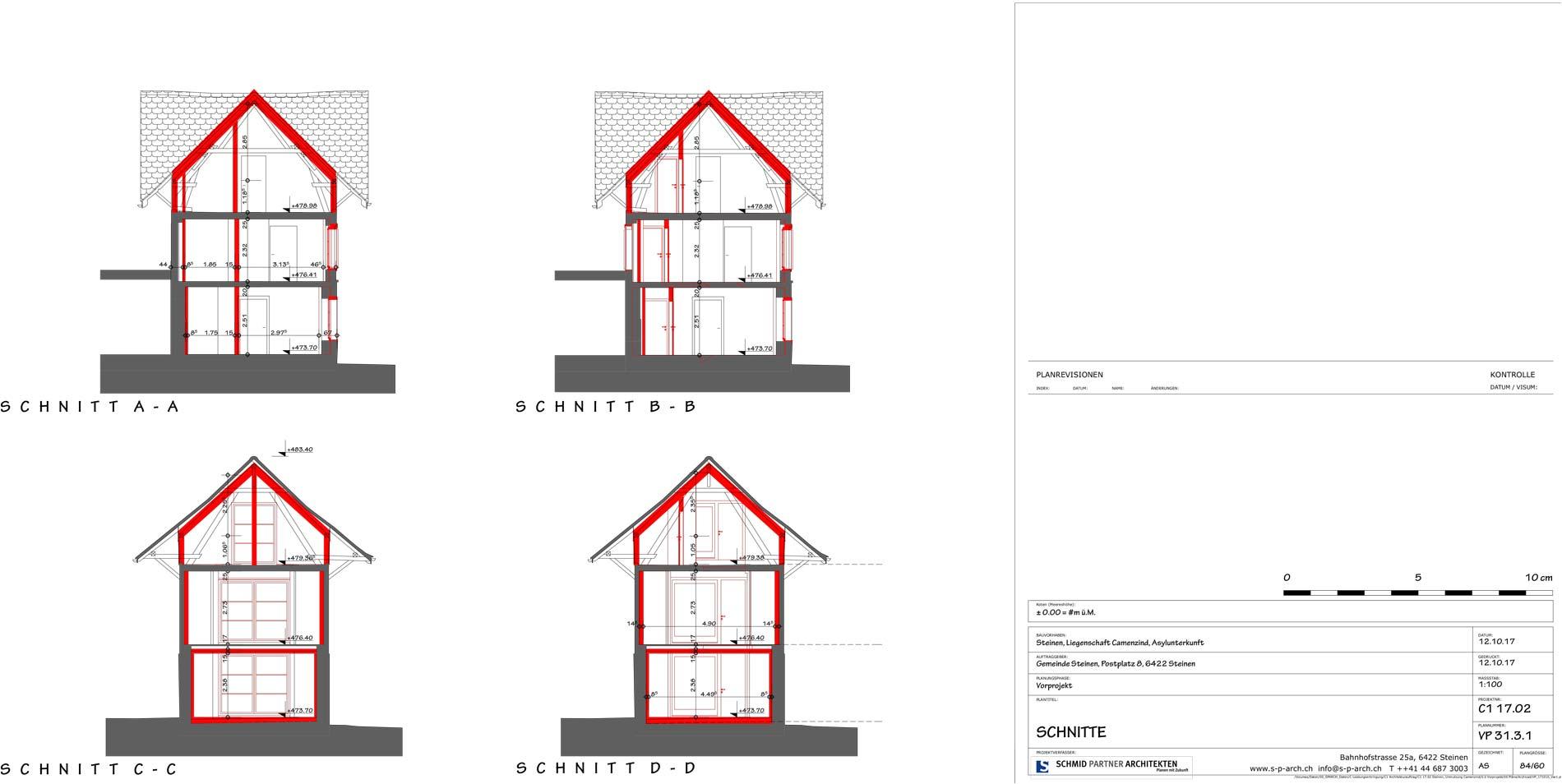 Schmid Partner Architekten Bauerneuerung VP 31.3.1 SCHNITTE