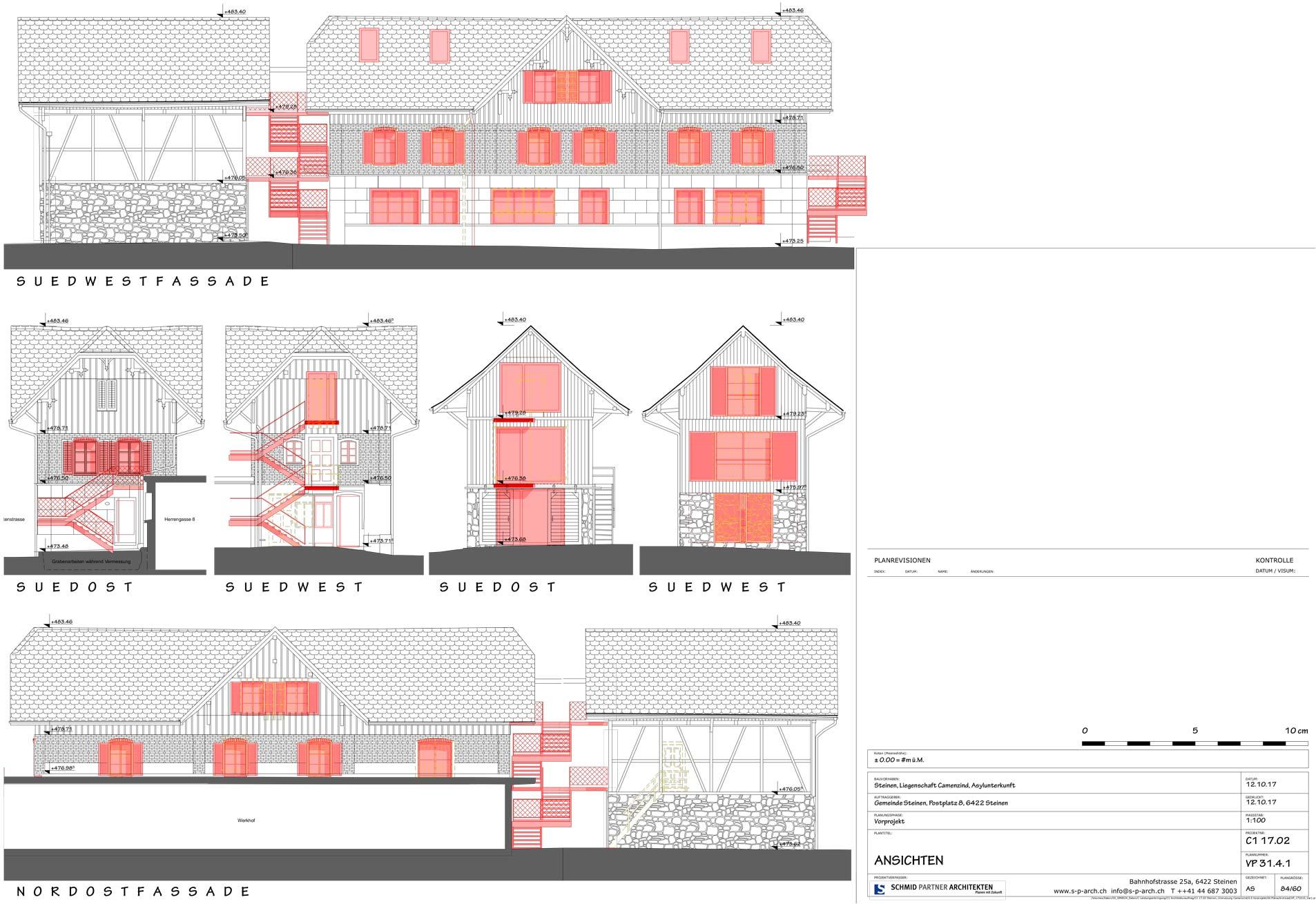 Schmid Partner Architekten Bauerneuerung VP 31.4.1 ANSICHTEN