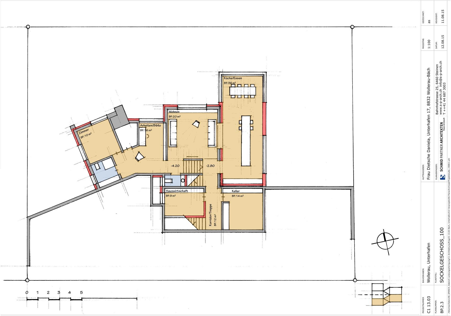 Schmid Partner Architekten Umbau C11505 BP.2.3 SOCKELGESCHOSS 100